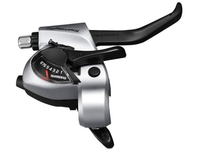 Shimano Tourney TX ST-TX800 Schalt-/Bremshebel für V-Brake Rechts 8-fach silber